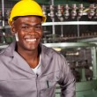 African american industrial worker portrait in front of machine — Stock Photo #14968139