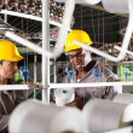 Два текстильщиков на работе — Стоковое фото