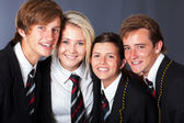 Group of happy high school students closeup portrait — Stock Photo
