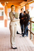 Full length portrait of a female school teacher — 图库照片
