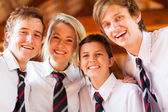 Group of happy high school students closeup — Stock Photo