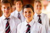 Group of high school girls and boys portrait — Stock Photo