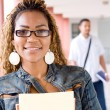 Female african college student portrait — Stock Photo