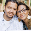 African american college students closeup portrait — Stock Photo