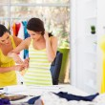 Женские индивидуальные измерения размера талии клиентов — Стоковое фото