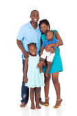 Happy african american family full length portrait — Stock Photo