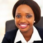 Cute african american businesswoman closeup — Stock Photo