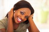 Cute african american teen girl closeup — Stock Photo