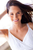 Attractive young woman closeup portrait — Stock Photo