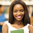 Cute female african american college student closeup portrait — Stock Photo #20130575