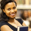 pretty african american college girl closeup portrait — Stock Photo