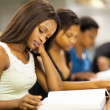 Group of african american college students studying together — Stock Photo #20130621