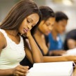 Stock Photo: Group of african american college students studying together