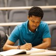 Male african college student in lecture room — Stock Photo #20130857