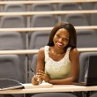 Female african college student in classroom — Stock Photo