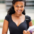 Pretty african female college student portrait outdoors — Stock Photo #20131055