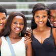 Stock Photo: Group of african university students portrait on campus