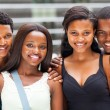 Group of african university students portrait on campus — Stock Photo #20131149