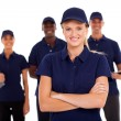 Foto Stock: Technical service team on white background