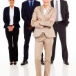 Foto Stock: Group of business full length portrait