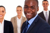 African american businessman and colleagues — Stock Photo