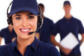 Llame a soporte técnico profesional distribuidor centro y equipo — Foto de Stock
