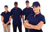 Professional technical service leader and team — Stock Photo