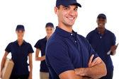 Groep van professional het technici op witte achtergrond — Stockfoto