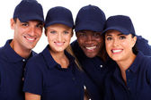 IT service team group closeup portrait on white — Stock Photo