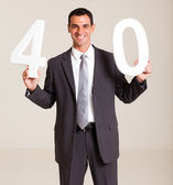 Handsome businessman turning 40 years old — Stock Photo