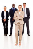 Group of business full length portrait — Stock Photo