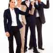 Group of business giving ok hand sign — 图库照片