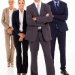 Group of business full length on white — Stock Photo