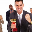 Smart business team winning a competition — Stock Photo
