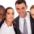 Young business team closeup portrait — Foto de Stock