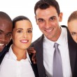 Young business team closeup portrait — Stock Photo