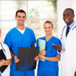 Group of medical workers in hospital — Stock Photo