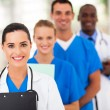 Group of healthcare workers line up — Stock Photo