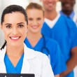 Group of modern smart medical team closeup — Stock Photo