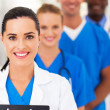 gruppo del team medico intelligente moderna closeup — Foto Stock
