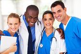 集团的专业的医疗团队特写 — 图库照片