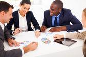 Grupp av företag har möte tillsammans — Stockfoto