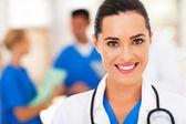 Beautiful medical nurse closeup portrait — Stockfoto