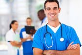 Confident medical doctor portrait in hospital — Stock Photo