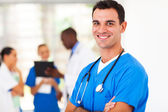 Smart medical surgeon portrait in hospital — Stock Photo