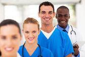 Modern tıp uzmanları dikey grup — Stok fotoğraf