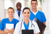 Group of healthcare professionals in hospital — Stock Photo