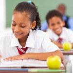 žáků základních škol v učebně — Stock fotografie