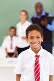 School boy in a classroom — Stock Photo