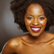 Stock Photo: Black fashion beauty